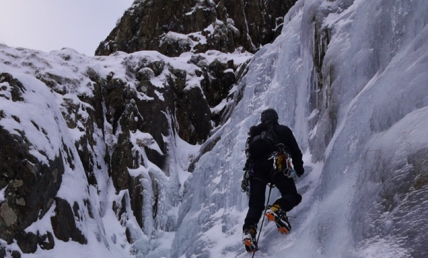 Winter Lead Climbing