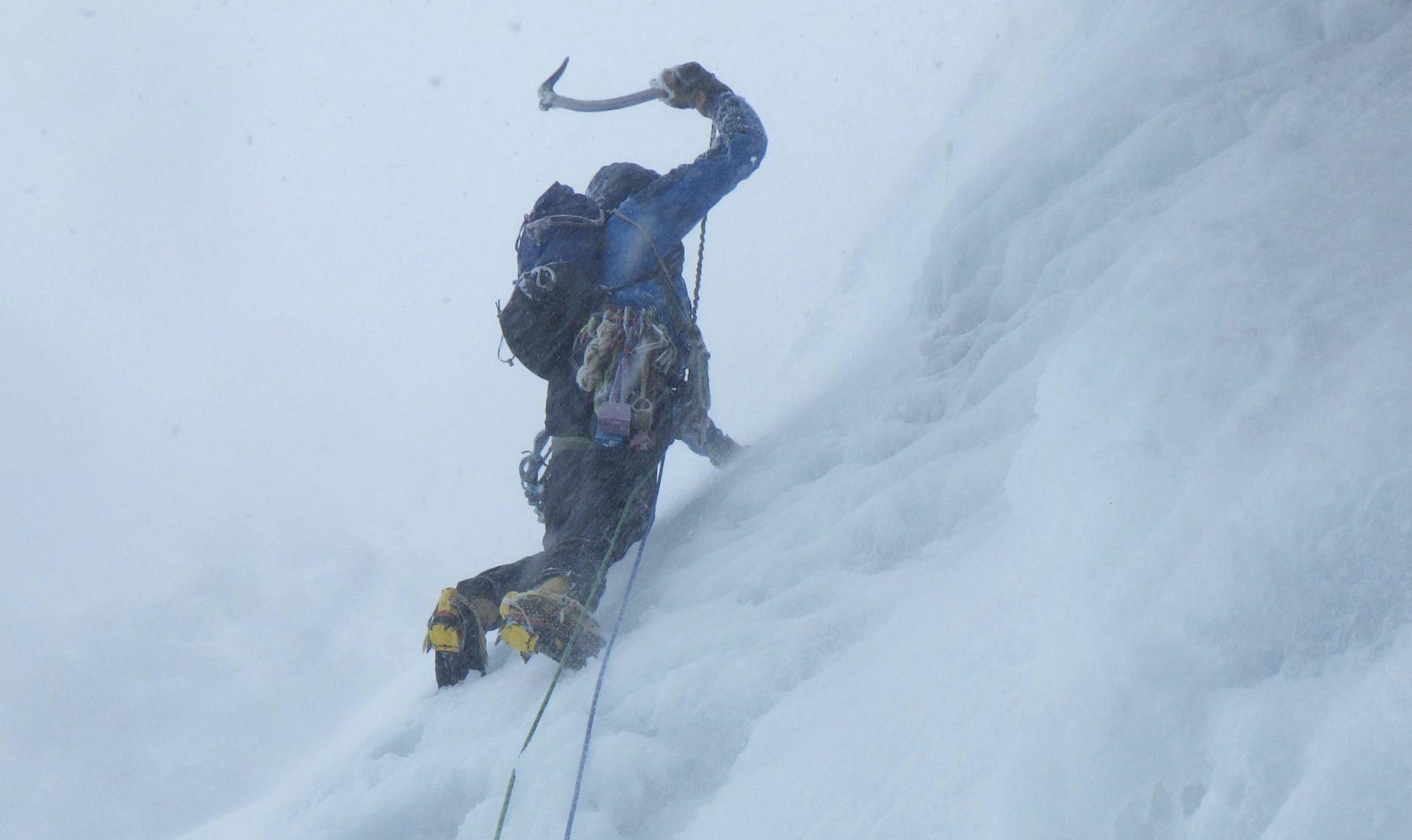 Winter Lead Climbing